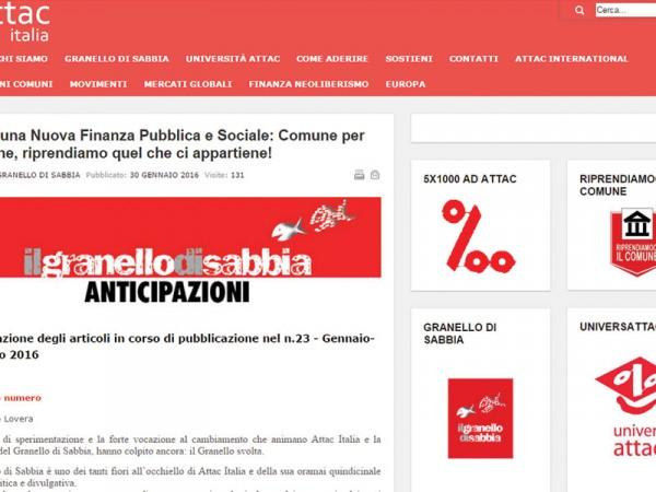 Partecipattiva rassegna stampa blog attac italia - Parlano di noi