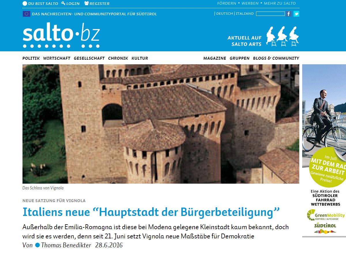 Salto.bz - articolo in tedesco del blog